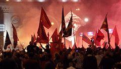 Demonstrace ve Skopje přinesly desítku zraněných, protestujícím se nelíbí nový název státu 'Severní Makedonie'