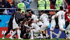 Egypt byl blízko překvapivému bodu. O něj jej v 90. minutě obral Uruguajec Giménez
