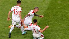 Kostarika - Srbsko 0:1. Výhru Srbů zařídil krásnou trefou Kolarov