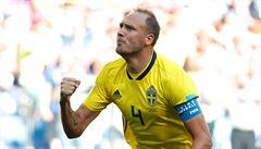 Švédsko - Jižní Korea 1:0. Švédský kapitán Granqvist rozhodl o výhře gólem z penalty