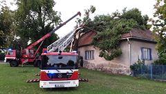 Čtvrteční bouřky zaměstnaly hasiče. Řešili požáry i popadané stromy