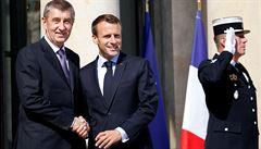 Babiš se sešel s Macronem, ve Francii následně navštíví památník legionářů