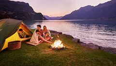 Spát se dá pod stanem, v karavanu nebo ubytovně, ani Švýcarsko nemusí být drahé