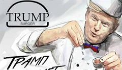 Podnik na Sibiři láká zákazníky na Trump burger