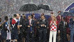 Putin za nepodaný deštník chorvatské prezidentce nemůže, je to chyba její ochranky, říká Špaček
