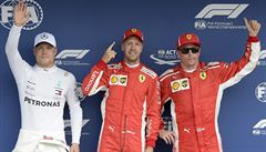 Kvalifikaci na Velkou cenu Německa vyhrál Vettel, Hamilton kvůli  potížím odstartuje ze 14. místa