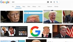 Vtipálkům se podařilo ošálit Google. Na slovo 'idiot' vyhledávač vrací obrázky Trumpa