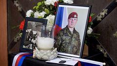 Přeletem letounů začal pohřeb vojáka Martina Marcina, který padl v Afghánistánu