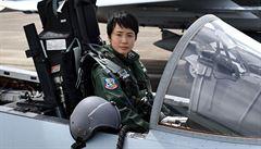 Japonsko má první pilotku stíhacího letounu. Ke kariéře ji inspiroval film Top Gun