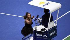 Za nadávky ve finále US Open dostala Williamsová pokutu 17 tisíc dolarů. Rozhodčího nazvala zlodějem
