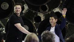 První vesmírný turista bude Japonec. Miliardář Maezawa poletí s Muskovou SpaceX