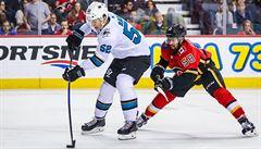 Radil bojuje o NHL. Proti Calgary se předvedl gólem a asistencí