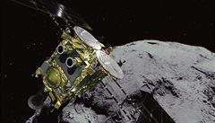 Japonská sonda Hajabusa hledá původ sluneční soustavy. Na asteroid kvůli tomu vypustila pozorovacího robota