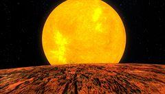 Družice Kepler poprvé objevila skalnatou exoplanetu