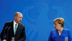 Mezi Německem a Tureckem zůstávají hluboké rozdíly, říká Merkelová po jednání s Erdoganem