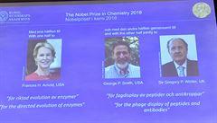 Nobelovu cenu za chemii získali dva Američané a Brit. Zkoumají bílkoviny