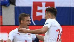 Slovensko - Česko 1:2, Šilhavého úspěšná premiéra.Trefil se Krmenčík a Schick