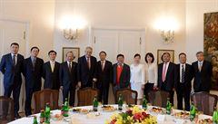 Zeman přijal desítku zástupců čínských firem. Hostem byl i předseda představenstva CITIC Group