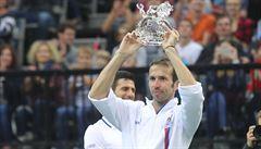 Zeman vyznamená bývalého tenistu Štěpánka, který se minulý týden rozloučil s kariérou