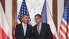 'Chceme rozvíjet jadernou energii.' Babiš se setkal s ministrem energetiky USA