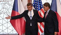 Těžká váha z Washingtonu. Do Česka přiletěl lobbovat Trumpův ministr energetiky, jednal s Babišem