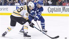 Pastrňák dvakrát skóroval a s Lainem vládne pořadí kanonýrů NHL