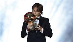 Modrič získal i Zlatý míč, Ronaldo s Messim na vyhlášení nedorazili