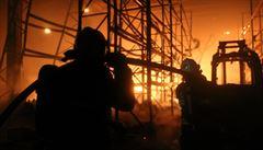 V Olomouci hořely skladovací haly,škody půjdou do desítek milionů