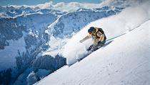 Lyžování v Salcbursku je díky zasněženým vysokým horám opravdovým zážitkem.