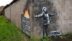 Banksy představil novou malbu, upozorňuje na znečištění ovzduší