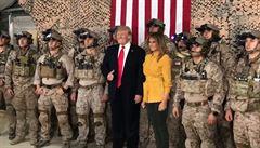 Trump v Iráku nedopatřením odhalil přítomnost i tváře týmu speciálních jednotek NAVY Seal