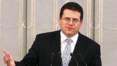 Slovenský prezidentský kandidát Šefčovič v neděli navštíví Zemana v Lánech