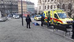 U Národního muzea se pokusil zapálit další muž, svůj čin předem oznámil policii