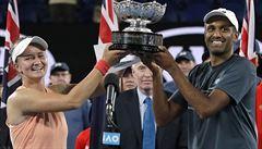 Krejčíková slaví třetí grandslamový titul. Tentokrát zvítězila ve smíšené čtyřhře