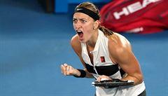 Suverénní Kvitová je ve finále Australian Open, soupeřce nadělila kanára. Plíšková podlehla Ósakaové