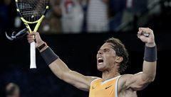 Nadal smetl Tsitsipase a jde si pro svůj druhý australský titul