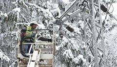 Kvůli sněhové nadílce je bez elektřiny přes 20 000 odběratelů, říká ČEZ