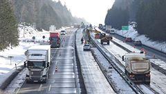 D1 u Humpolce je průjezdná. Omezení skončila na Prahu i Brno