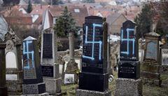 Růst antisemitismu ve Francii. Na židovském hřbitově někdo pokreslil hroby hákovými kříži
