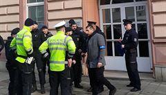 Policie nenašla v budově soudu v Olomouci bombu hlášenou anonymem