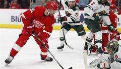 Obránce Hronek připravil v NHL dvě branky Detroitu, Minnesotě však podlehl