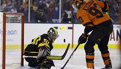 Voráček v NHL zazářil v utkání pod širým nebem. Stal se první hvězdou zápasu