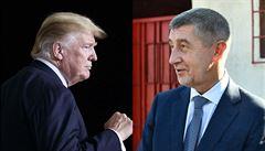 Trump nabízí Česku energii z plynu i jádro. O energetice bude jednat s Babišem