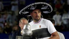 Vynervoval Nadala, rozzuřil diváky, hádal se s rozhodčím. Po triumfu Kyrgios vzkázal: Polepším se