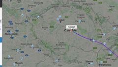 Jediný podezřelý boeing na letecké mapě Evropy. Prázdný se vracel do Česka