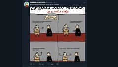 Komiks Opráski sčeskí historje na Facebooku končí. Publikuje prý nenávistné projevy