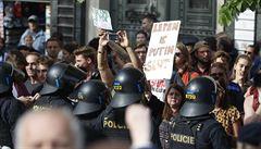 Deseti odpůrcům SPD ze čtvrteční demonstrace hrozí za neuposlechnutí výzvy pokuta
