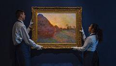Dvě a půl miliardy za Monetovy Kupky sena. Obraz se vydražil za rekordní částku
