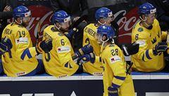 Žlutý stroj Rakušané nezbrzdili, Švédsko vyhrálo 9:1. Fin Kakko zase řádil proti Dánsku