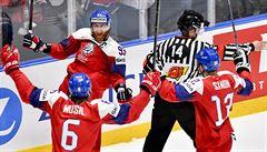 Nejdřív trápení, pak parádní obrat. Hokejisté na MS zdolali Lotyšsko 6:3 i díky čtyřem bodům Voráčka